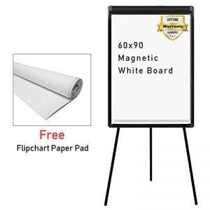 Tableau blanc magnétique effaçable | Chevalet de conférence | Réglable en hauteur & usage flexible, 60 x 90 cm de la marque MAXTEK image 0 produit