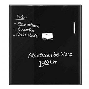 Tableau en verre Master of Boards® en noir | verre de sécurité magnétique | taille 45x50cm de la marque Master of Boards image 0 produit