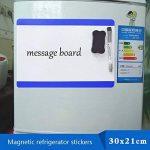 Tableau magnétique / mur pour écrire Villexun - Format A4 - Matériau souple - Fonctionne comme un réfrigérateur à aimant (autocollant) - Écriture avec marqueurs de bureau, design créatif noir de la marque Villexun image 3 produit