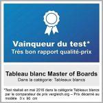 Tableau Magnétique | Tableau Blanc Master of Boards Élu Meilleur Rapport Qualité/Prix - Serie ECO | Tableau Aimanté | Tableau Memo Cadre Alu | 60x90cm de la marque Master of Boards image 2 produit