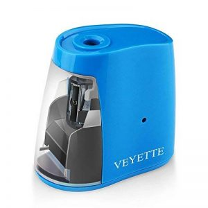 Taille-Crayon Electronique, USB Convent Machine à Tailler Les Crayons Ø6-8, Piles Non Incluses avec Réserve Amovible, Fonctionne Automatiquement, Pratique pour Paresseux (Blue) de la marque VEYETTE image 0 produit