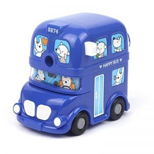 Taille-crayon à la Main Automatique en Plastique avec L'Animation Bus à Moteur Adorable Créative Simple Classique Portable Enfants pour Fournitures de Elèves de la marque RUIXIA image 0 produit