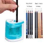Taille-crayon électrique, taille-crayon de sécurité, 2 trou d'autres grand trou 6-8mm ou 9-12mm standard, bleu de la marque Annly image 1 produit