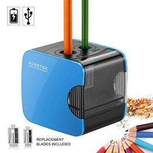 taille crayon électriques avec réservoir, USB et alimenté par piles, Aiguiseur automatique Taille-crayons électrique robuste pour crayons de couleur et No.2 par AOBETAK de la marque AOBETAK image 0 produit