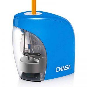 Taille Crayons Electrique automatique bureau école - Professionnel affûtage précise rapide Crayon pour taille-crayon crayons de couleur, crayons sourcils (Bleu) de la marque CNASA image 0 produit