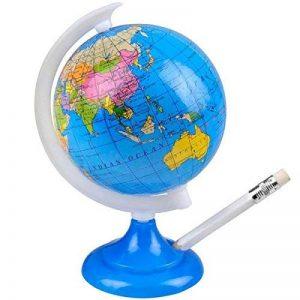 takestop mappemonde avec taille-crayon politique rotatif Diamètre 8,5cm de table Globo Jeu Tempera crayons pastels Terra Casa 016 de la marque takestop image 0 produit
