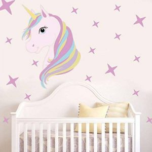 Tiaobug Dessin animé Animal Sticker Mural Retrait Rainbow Star Autocollant Mural Art Filles Chambre à Coucher Chambre d'enfant Home Decor de la marque Tiaobug image 0 produit