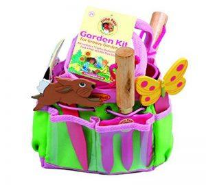 Tierra Garden Ensemble de jardinage«TierraGarden7-lp380LittlePals» pour enfants avec truelle à main, fourche à main, gants, marqueurs de plantes, et seau, rose rose de la marque Tierra Garden image 0 produit