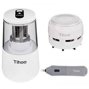 TOROTON Taille-crayon électrique, avec gomme électrique et mini aspirateur, alimenté par des Câble USB ou piles (Non inclus), pour 6-8mm crayon, Idéal pour La classe, Le bureau et La maison de la marque TOROTON image 0 produit