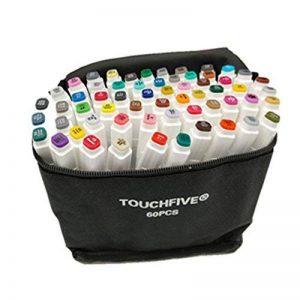 TOUCHFIVE Marker Lot de 60 marqueurs à double pointes Brush dans un sac de la marque TOUCHFIVE image 0 produit