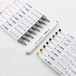 TOUCHFIVE Marker Lot de 60 marqueurs à double pointes Brush dans un sac de la marque TOUCHFIVE image 2 produit