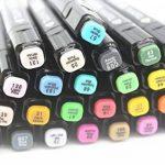 TOUCHFIVE Marker Lot de 80 marqueurs noir peinture dessin à double pointe Brush dans un sac (pour animation) de la marque Touchfive image 4 produit
