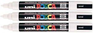 UNI-BALL Couleur?: Blanc uni Posca PC-5M Marqueur peinture Pointe ogive moyenne 2,5mm plume à écrire sur n de la marque Uniball image 0 produit