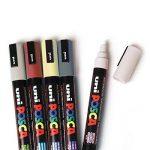 Uniball Uni Posca PC3M/8 Pochette 8 marqueurs peinture à eau Encre pigmentation assortie Pointe fine de la marque Uniball image 1 produit