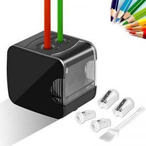 Upeffeet Convent Taille-Crayon Machine à Tailler Les Crayons USB+Batterie 2 Trous Taille-Crayon Electronique, Pratique pour les familles écoles (noir) de la marque Upeffeet Convent image 0 produit