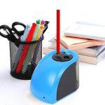 Upeffeet Convent Taille-crayons Electrique 2 Trous Machine A Tailler Les Crayons Ø6-8 / 10-12mm Avec Réserve Amovible Fonctionne Automatiquement A Pile / Adaptateur - Pratique Pour Paresseux (bleu) de la marque Upeffeet Convent image 3 produit