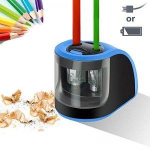 Upeffeet Convent Taille-crayons Electrique 2 Trous Machine A Tailler Les Crayons Ø6-8 / 10-12mm Avec Réserve Amovible Fonctionne Automatiquement A Pile / Adaptateur - Pratique Pour Paresseux (bleu) de la marque Upeffeet Convent image 0 produit