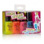 Vernis à ongles surligneur–Vernis à Ongles bouteilles High Styler marquer en lot de 4 de la marque alltoshop® image 2 produit