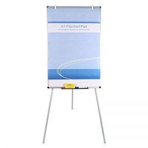 VIZ-PRO Chevalet de conférence - Tableau Blanc Effaçable & Magnétique - Réglable en hauteur & usage flexible, 90 x 60 cm de la marque VIZ-PRO image 0 produit
