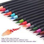 WCOCOW 20 couleurs Watercolor Brush Marker Pens Soft Flexible Tip for parfait pour cahiers de coloriage adulte, mangas, comics, calligraphie +1 water brush de la marque WCOCOW image 1 produit