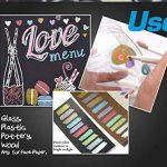 WCOCOW Métallique marqueur stylos, Lot de 10 couleurs, Métallique Couleur Peinture marqueur pour cadeau, la fabrication de cartes DIY Album photo+8 Papier Kraft Noir (Brush Tip) de la marque WCOCOW image 3 produit