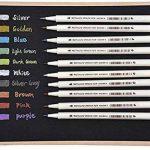 WCOCOW Métallique marqueur stylos, Lot de 10 couleurs, Métallique Couleur Peinture marqueur pour cadeau, la fabrication de cartes DIY Album photo+8 Papier Kraft Noir (Brush Tip) de la marque WCOCOW image 2 produit