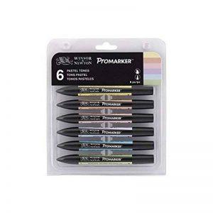 Winsor & Newton Promarker - Lot de 6 Marqueurs de Dessin - Tons Pastels de la marque Winsor & Newton image 0 produit