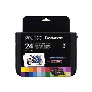 Winsor & Newton Promarker Trousse DE 24 Marqueurs Coloris Assortis de la marque Winsor-Newton image 0 produit