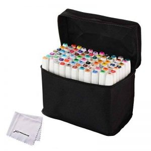 XCSOURCE Génération 5 80-couleurs Marqueur Peints à la Main Huile-alcool Double 1mm/6mm 80 Couleurs Graphique + Sac de Crayon [Conception Générale] de la marque XCSOURCE image 0 produit
