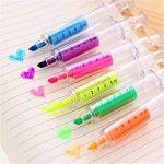 Y-BOA Crayon Fluorescente 6 Couleurs Surligneur Stylo Marqueurs Forme Seringue Créatif de la marque Y-BOA image 2 produit