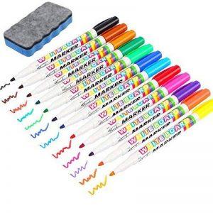 Yalulu Pack of 12 Assorted White Board Dry Drywipe Marker Pens Stylos Marqueur pour Tableau Blanc + Magnétique Gomme de la marque Yalulu image 0 produit