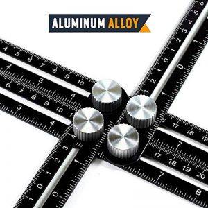 YANX Règle de modèle d'Angleizer Aluminium Multi-angle Outil de mesure Universel Outil de modèle Noir Règle d'angle pour Constructeur, Charpentier, Artisan, Architecte, Bricoleur de la marque YANX image 0 produit